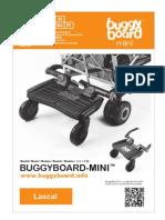Lascal BuggyBoard-Mini Owner Manual 2012 (NEDERLANDS)