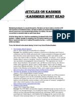 Twenty Articles on Kashmir That Non-kashmiri Should Read