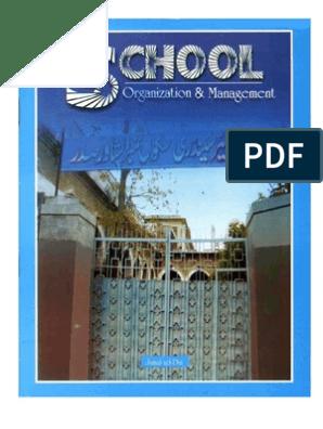 School Organization and Management   Philosophy Of Education   Teachers