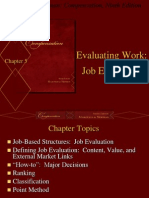 Chapter 5 - Evaluating Work Job Evaluation