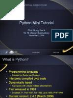 Python Tutorial