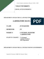 Control System Lab Manual