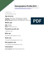 Philippines Demographics Profile 2012