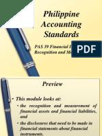 PAS 39 Financial Instruments Recognition and Measurements