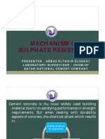 Mechanism of Sulphate Resistance