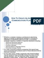 Communication Plan Advertising