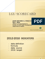 Final LGU Scorecard Indicators 2012-2016 as of April 19