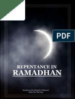 Repentance in Ramadhan