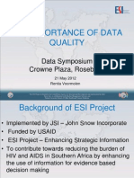 Importance of Data Quality Anova ESI