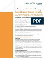 monitor brand advertising effectiveness