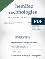 ChemRez Technologies - A HR Strategy for Korea