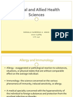 Allergy&Immunology - Behavioural Science