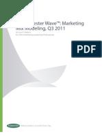 The Forrester Wave - Marketing Mix Modeling Q3 2011