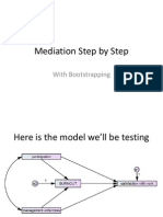 Mediation Step by Step With Bootstrapping