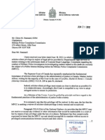 Letter From Minister of National Defence Peter MacKay