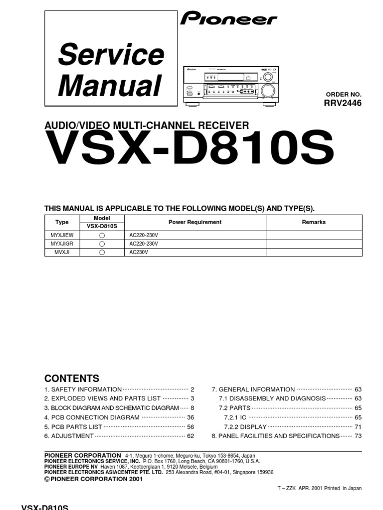 Pioneer vsx d810rrv2446 service manual am broadcasting pioneer vsx d810rrv2446 service manual am broadcasting electrical connector fandeluxe Gallery