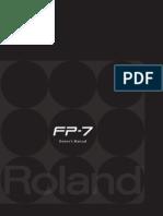 Roland Fp7 Manual