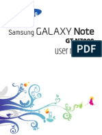 Manual Samsung Galaxy Note Gtn7000