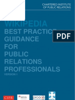 CIPR's Wikipedia Guidance for PR Professionals