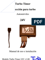 Turbo Timer 24V Micro Manual de Usuario Descarga