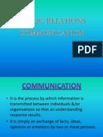 Public Relations Communication