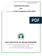 Information Brochure for M.phil and Ph.D