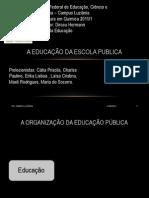 a educação da escola publica