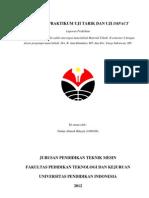 Laporan Materisl Teknik II Uji Tarik Dan Impact (1)