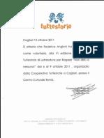 """Attestato partecipazione """"Festival Tuttestorie"""""""