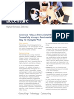 Accenture Helps an International Organization
