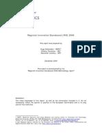 Regional Innovation Scoreboard (RIS) 2009 (Eng)/ Indicadores de Innovación Regional 2009 (Ing)/ Eskualdeko Berrikuntza Adierazleak 2009 (Ing)