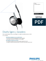 Ficha Técnica Auriculares Philips Light