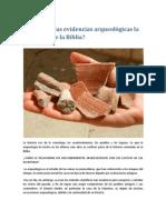 Prueban las evidencias arqueológicas la veracidad de la Biblia