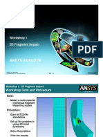 Ansys Autodyn 120 Workshop 01