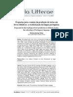 Vol 3 1 via Litterae 5-12-Propostas Para o Ens Da Prod de Textos Em Livro Didatico MARIANA Q TABOSA