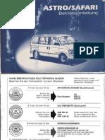 Chevrolet Astro,Safari 1993 Owner's Manual