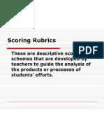 Scoring Rubrics