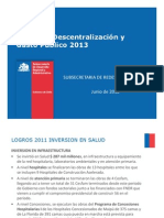 Presentacion Avance de Inversiones Minsal a Junio 2012