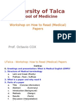 Medical English - Workshop - How to Read (Medical) Papers - O. Cox