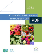 Bc Jobs Plan Special Report Greenhouse Sector 2011