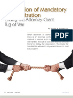 Exploration of Mandatory Fee Arbitration
