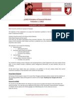 201163 1 HA1022 Principles of Financial Markets Assignment T1 2012