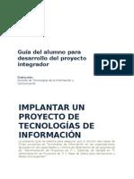 Guia Del Alumno Para Integradora I de ING. en TI