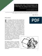 De Un Programa a Un Proyecto Arq Alfonso Ramirez Ponce