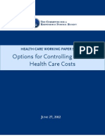 Options for Controlling Health Care Costs