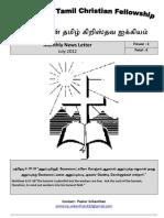 Wellington Tamil Christian Fellowship News Letter July 2012