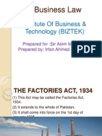 Business Law Factories Act