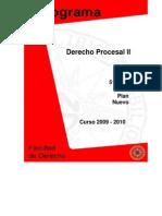 Programa Derecho Procesal II.2009-2010
