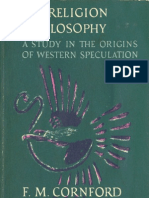 From Religion to Philosophy, A Study in the Origins of Western Speculation - F. M. Cornford