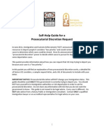 Self-Help Guide for a Prosecutorial Discretion Request